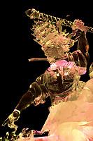 """King of Kings"" By Jeffery Stahl, Joshua Distenfeld, Louis Manzoni and Jeff Bleier.  2006 world ice art championships multiblock competition in Fairbanks, AK"