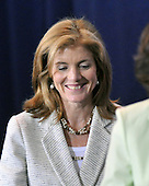 Washington, D.C. - April 21, 2009 -- Caroline Kennedy arrives for the signing ceremony for the Edward M. Kennedy Serve America Act at the SEED School in Washington, D.C. on Tuesday, April 21, 2009.  United States President Barack Obama made remarks before signing the bill..Credit: Ron Sachs / CNP