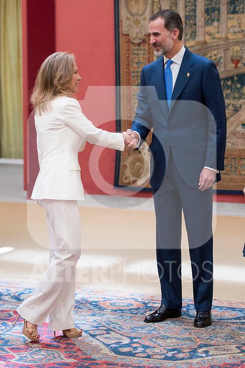 Alicia Koplowitz and King Felipe Vi of Spain attends the meeting of the members of the patronage of the Princesa de Asturias foundation at El Pardo Palace in Madrid, June 16, 2017. Spain.<br /> (ALTERPHOTOS/BorjaB.Hojas)