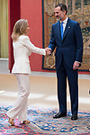 Alicia Koplowitz and King Felipe Vi of Spain attends the meeting of the members of the patronage of the Princesa de Asturias foundation at El Pardo Palace in Madrid, June 16, 2017. Spain.<br /> (ALTERPHOTOS/BorjaB.Hojas)