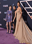 "Kristen Stewart, Naomi Scott, Ella Balinska 130 attends the premiere of Columbia Pictures' ""Charlie's Angels"" at Westwood Regency Theater on November 11, 2019 in Los Angeles, California."