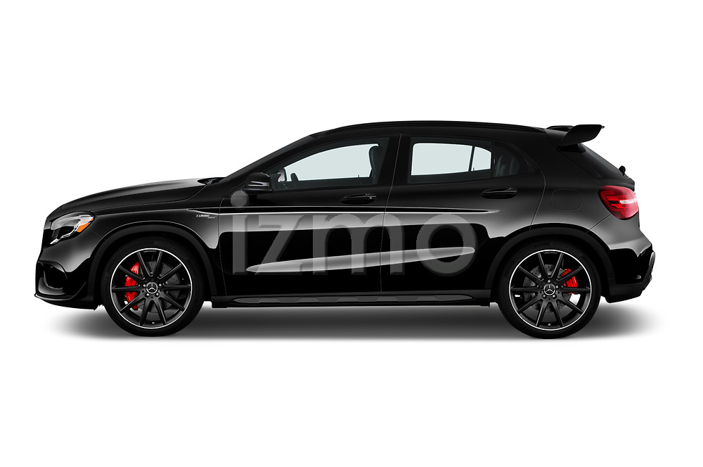 Car driver side profile view of a 2018 Mercedes Benz GLA AMG 45 5 Door SUV