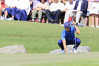 Rickie Fowler (USA) on the 18th green during Friday's Round 2 of the 2017 PGA Championship held at Quail Hollow Golf Club, Charlotte, North Carolina, USA. 11th August 2017.<br /> Picture: Eoin Clarke | Golffile<br /> <br /> <br /> All photos usage must carry mandatory copyright credit (&copy; Golffile | Eoin Clarke)