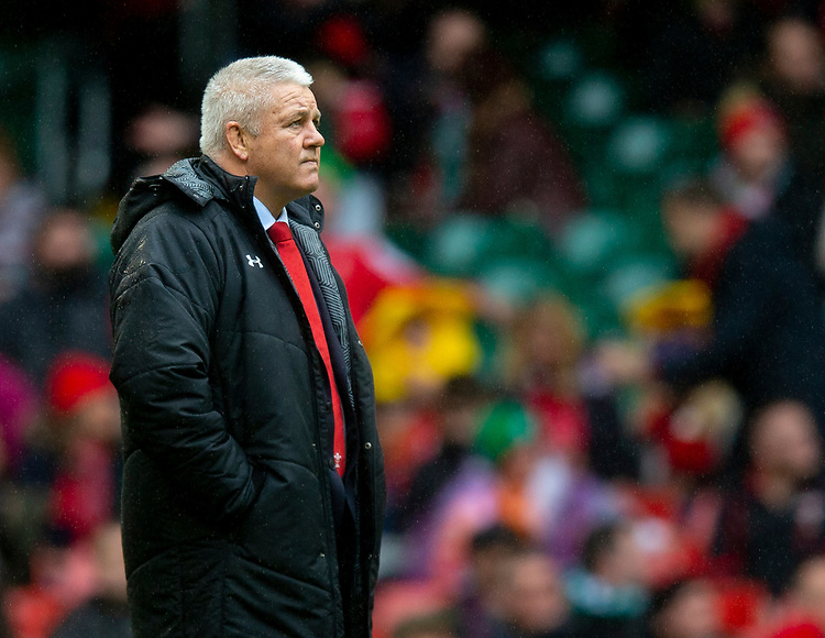 Wales' Head Coach Warren Gatland<br /> <br /> Photographer Bob Bradford/CameraSport<br /> <br /> Guinness Six Nations Championship - Wales v Ireland - Saturday 16th March 2019 - Principality Stadium - Cardiff<br /> <br /> World Copyright © 2019 CameraSport. All rights reserved. 43 Linden Ave. Countesthorpe. Leicester. England. LE8 5PG - Tel: +44 (0) 116 277 4147 - admin@camerasport.com - www.camerasport.com