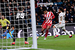 Real Madrid's Marcelo Vieira and Girona FC's Antony Lozano during Copa del Rey match between Real Madrid and Girona FC at Santiago Bernabeu Stadium in Madrid, Spain. January 24, 2019. (ALTERPHOTOS/A. Perez Meca)