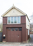 Historic old fire engine house building in large village of Pewsey, Wiltshire, England, UK headquarters for Pewsey carnival