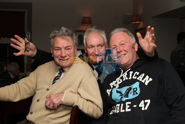 Patsy and Pat Devlin and Fof Farrell in the Fishermans...(Photo credit should read Jenny Matthews/NEWSFILE)...