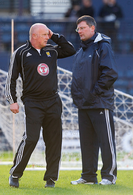 Scotland assistant Peter Houston with Craig Levein