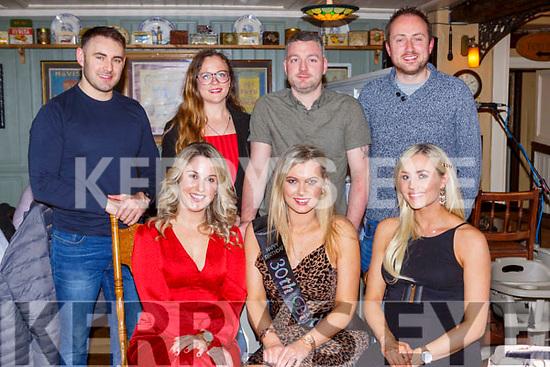 Claudia Looney, Milltown celebrated her 30th birthday with her friends in the Porterhouse restauraunt Killarney on Friday night front row l-r: Mari Kelleher, Claudia Looney,Aoife O'Sullivan. Back row: John Wick, Amanda McSweeney, Alan Looney, John O'Donoghue