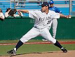 March 10, 2012:   Nevada Wolf Pack relief pitcher Elliot Van Gaver throws against the UC Santa Barbara Gauchos during their NCAA baseball game played at Peccole Park on Saturday afternoon in Reno, Nevada.