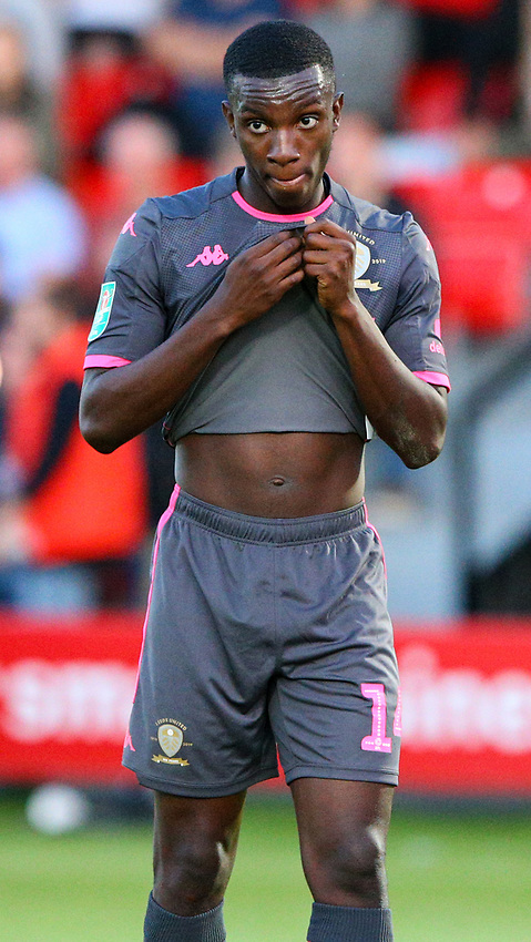 Leeds United's Eddie Nketiah<br /> <br /> Photographer Alex Dodd/CameraSport<br /> <br /> The Carabao Cup First Round - Salford City v Leeds United - Tuesday 13th August 2019 - Moor Lane - Salford<br />  <br /> World Copyright © 2019 CameraSport. All rights reserved. 43 Linden Ave. Countesthorpe. Leicester. England. LE8 5PG - Tel: +44 (0) 116 277 4147 - admin@camerasport.com - www.camerasport.com