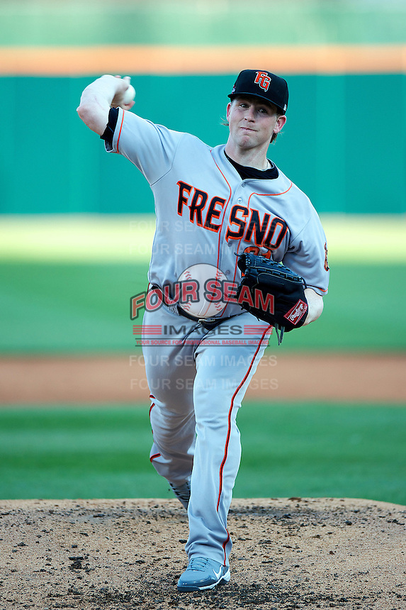 Fresno Grizzlies pitcher Eric Hacker #21 during the Triple-A All-Star game featuring the Pacific Coast League and International League top players at Coca-Cola Field on July 11, 2012 in Buffalo, New York.  PCL defeated the IL 3-0.  (Mike Janes/Four Seam Images)