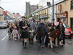 Cuchulainn, Ferdia and the Táin warriors parade through Ardee before the battle on the banks of the river. Photo: Colin Bell/pressphotos.ie