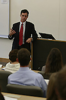 Joe Quinlan, Managing Director and Chief Market Strategist of Banc of America Capital Management speaks to students at Point Loma Nazerene University, Wednesday January 30, 2008.