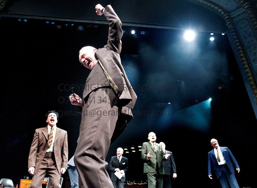 Democracy by Michael Frayn, directed by  Paul Miller. With   Aidan McArdle as Gunter Guillaume, William Hoyland as Herbert Wehner.  Opens at The Old Vic Theatre on 20/6/12 CREDIT Geraint Lewis