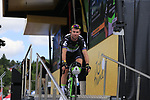 Mark Cavendish (GBR) Team Dimension Data at sign on in Mondorf-les-Bains before the start of Stage 4 of the 104th edition of the Tour de France 2017, running 207.5km from Mondorf-les-Bains, Luxembourg to Vittel, France. 4th July 2017.<br /> Picture: Eoin Clarke | Cyclefile<br /> <br /> <br /> All photos usage must carry mandatory copyright credit (&copy; Cyclefile | Eoin Clarke)