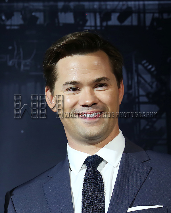 Andrew Rannells during the American Theatre Wing's 70th Annual Tony Awards Nominations at Diamond Horseshoe at the Paramount Hotel on May 3, 2016 in New York City.