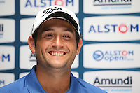 Touted as tournament favourite, Alexander Levy (FRA) during the media interviews ahead of the 2015 Alstom Open de France, played at Le Golf National, Saint-Quentin-En-Yvelines, Paris, France. /01/07/2015/. Picture: Golffile | David Lloyd<br /> <br /> All photos usage must carry mandatory copyright credit (&copy; Golffile | David Lloyd)