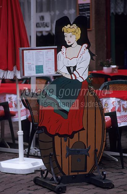 Europe/France/Alsace/68/Haut-Rhin/Colmar : Porte-menu