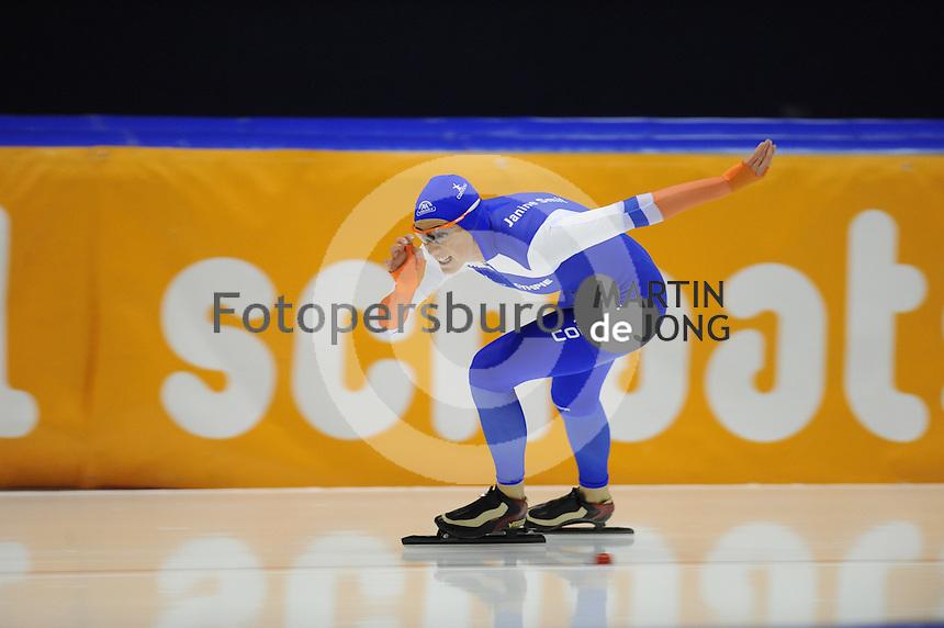 SCHAATSEN: HEERENVEEN: 25-10-2014, IJsstadion Thialf, Trainingswedstrijd schaatsen, Janine Smit, ©foto Martin de Jong