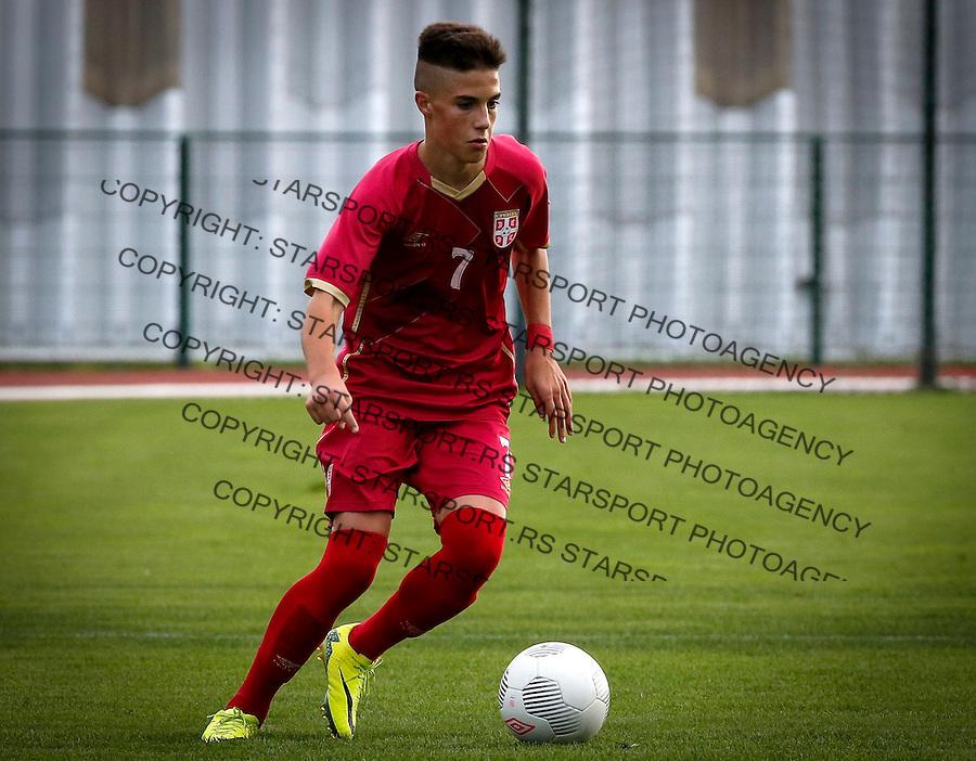 Fudbal Soccer<br /> International Friendly-Prijateljski mec<br /> Srbija U17 v Belorusiaj U17<br /> Aleksa Jankovic<br /> Stara Pazova, 20.09.2016<br /> foto: Srdjan Stevanovic/Starsportphoto &copy;