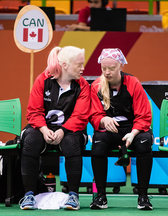 RIO DE JANEIRO - 12/09/2016 Team Canada competes in Women's Goalball preliminary against China at the Rio 2016 Paralympic Games at the Future Arena. (Photo by Angela Burger/Canadian Paralympic Committee)