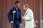 """Eloy Azorin and Juan Diego during theater play of """"Una gata sobre un tejado de Cinc caliente"""" at Reina Victoria theater in Madrid, Spain. March 15, 2017. (ALTERPHOTOS/BorjaB.Hojas)"""