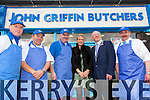 Des Daly, Jerome O'Sullivan, John Griffin, Rachel Allen, Mayor of Kerry John Brassil Jimmy Farrell at the opening of John Griffin Butchers the Horans centre on Friday