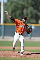 San Francisco Giants pitcher Rodolfo Martinez (64) during an Instructional League game against the Oakland Athletics on October 13, 2014 at Giants Baseball Complex in Scottsdale, Arizona.  (Mike Janes/Four Seam Images)