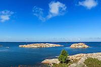 Blått hav och horisont vid Stora-Nassa i Stockholms ytterskärgård.