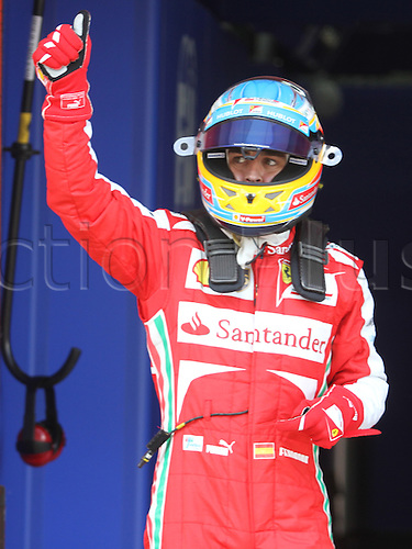 11.05.2013 Barcelona, Spain. Formula 1 Qualifying Session. Picture shows Fernando Alonso after finish Q3 at circuit de Catalunya