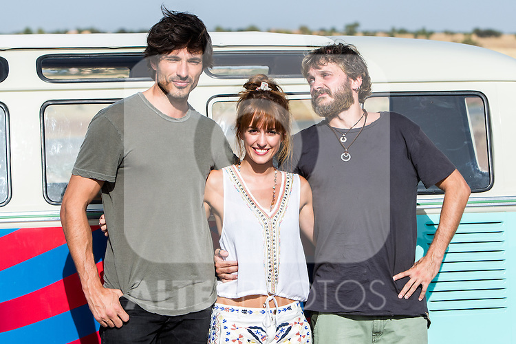 "Spanish actress Silvia Alonso and Spanish actor sSalva Reina and Andres Velencoso during the filming of the movie "" Senor, dame paciencia"" directed by Alvaro Diaz. September 06, 2016. (ALTERPHOTOS/Rodrigo Jimenez)"