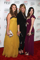 HOLLYWOOD, CA - NOVEMBER 08: Destry Allyn Spielberg, Kate Capshaw and Sasha Spielberg at the 'Lincoln' premiere during the 2012 AFI FEST at Grauman's Chinese Theatre on November 8, 2012 in Hollywood, California. Credit: mpi21/MediaPunch Inc. /NortePhoto