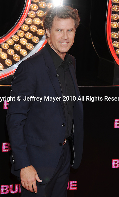 """HOLLYWOOD, CA. - November 15: Will Ferrell. arrives at the Los Angeles """"Burlesque"""" Premiere at Grauman's Chinese Theatre on November 15, 2010 in Hollywood, California."""