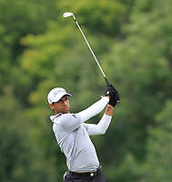 Aaron Rai (ENG) on the 5th fairway during Round 1 of the D+D Real Czech Masters at the Albatross Golf Resort, Prague, Czech Rep. 31/08/2017<br /> Picture: Golffile | Thos Caffrey<br /> <br /> <br /> All photo usage must carry mandatory copyright credit     (&copy; Golffile | Thos Caffrey)