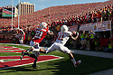 October 16, 2010: Nebraska Cornhuskers had a close call when Texas Longhorns wide receiver James Kirkendoll #11 drops a pass in the endzone in the first quarter at Memorial Stadium in Lincoln, Nebraska. Texas defeated Nebraska 20 to 13.