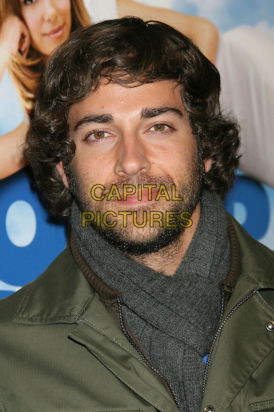 "ZACHARY LEVI .""Over Her Dead Body"" Los Angeles Premiere held at the ArcLight Cinemas Cinerama Dome Theater, Santa Monica, California, USA..January 29th 2008.headshot portrait grey gray scarf stubble beard facial hair profile.CAP/ADM/RE.©Russ Elliot/AdMedia/Capital Pictures..."