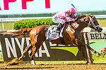 JULY 04, 2020 : Vekoma with Javier Castellano aboard, wins the Grade 1 Metropolitan Handicap, going 1 mile, at Belmont Park, Elmont, NY.  Sue Kawczynski/Eclipse Sportswire/CSM