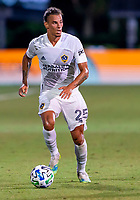 13th July 2020, Orlando, Florida, USA;  Los Angeles Galaxy defender Rolf Feltscher (25) looks to pass the ball during the MLS Is Back Tournament between the LA Galaxy versus Portland Timbers on July 13, 2020 at the ESPN Wide World of Sports, Orlando FL.