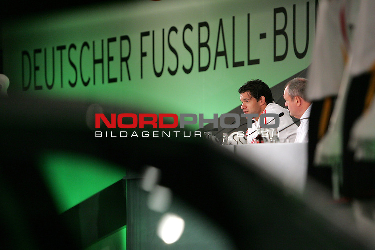 FIFA WM 2006 - Press Conference - Germany<br /> Michael Ballack, german national player, during a DFB-Press Conference at the ICC in Berlin.<br /> Foto &copy; nordphoto