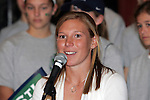 25 November 2008: Lori Chalupny, U.S. Olympic gold medalist and team member of the St. Louis Athletica.  Women's Profession Soccer unveiled the team name and logo for the St. Louis WPS franchise at the Missouri Athletic Club in St. Louis, Missouri.
