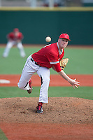 Hartford Hawks starting pitcher Brian Murphy (23) in action against the Cornell Big Red at The Ripken Experience on February 28, 2015 in Myrtle Beach, South Carolina.  The Big Red defeated the Hawks 4-3.  (Brian Westerholt/Four Seam Images)