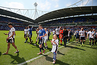 Bolton Wanderers' players celebrate maintaining Championship status<br /> <br /> Photographer Andrew Kearns/CameraSport<br /> <br /> The EFL Sky Bet Championship - Bolton Wanderers v Nottingham Forest - Sunday 6th May 2018 - Macron Stadium - Bolton<br /> <br /> World Copyright &copy; 2018 CameraSport. All rights reserved. 43 Linden Ave. Countesthorpe. Leicester. England. LE8 5PG - Tel: +44 (0) 116 277 4147 - admin@camerasport.com - www.camerasport.com