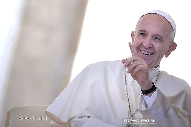 Pope Francis  during his weekly general audience in St. Peter square at the Vatican, Wednesday.April 20 2016.