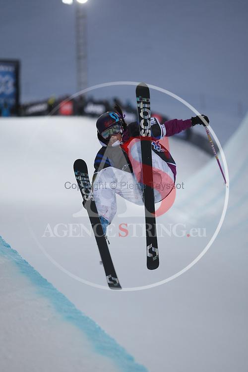 X Games Tignes Europe 2012 Women's Ski Superpipe final ..Roz Groenewoud on 16/03/2012 in Tignes, France. ..© PierreTeyssot.com