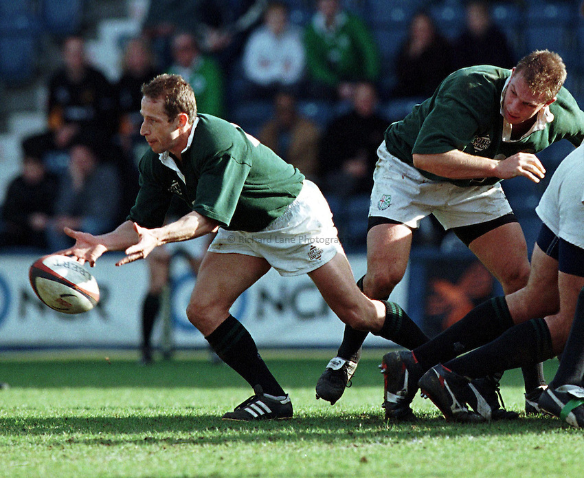 Photo. Richard Lane. .Wasps v London Irish.14/3/99..Kevin Putt.