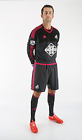 Wednesday 06 May 2015<br /> Pictured: Lukasz Fabianski in home kit<br /> Re: Swansea City FC new Adidas kit at Fairwood Training Ground.