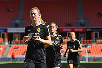 Houston, TX - Sunday Oct. 09, 2016: Samantha Mewis prior to a National Women's Soccer League (NWSL) Championship match between the Washington Spirit and the Western New York Flash at BBVA Compass Stadium.
