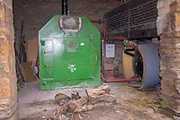 Biomass boiler providing heat for a pig unit, Yorkshire.