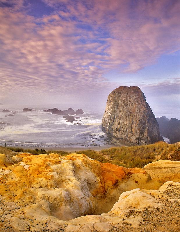 Seal Rock with sunrise. Oregon.